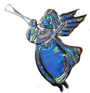 opal angel blueSterling Silver  with Gibson Opal. Can be