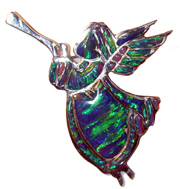 opal angle greenSterling Silver  with Gibson Opal. Can be