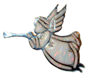 opal angel white Sterling Silver  with Gibson Opal. Can be